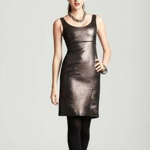 Trina Turk Garreth Sheath Metallic Bronze Dress